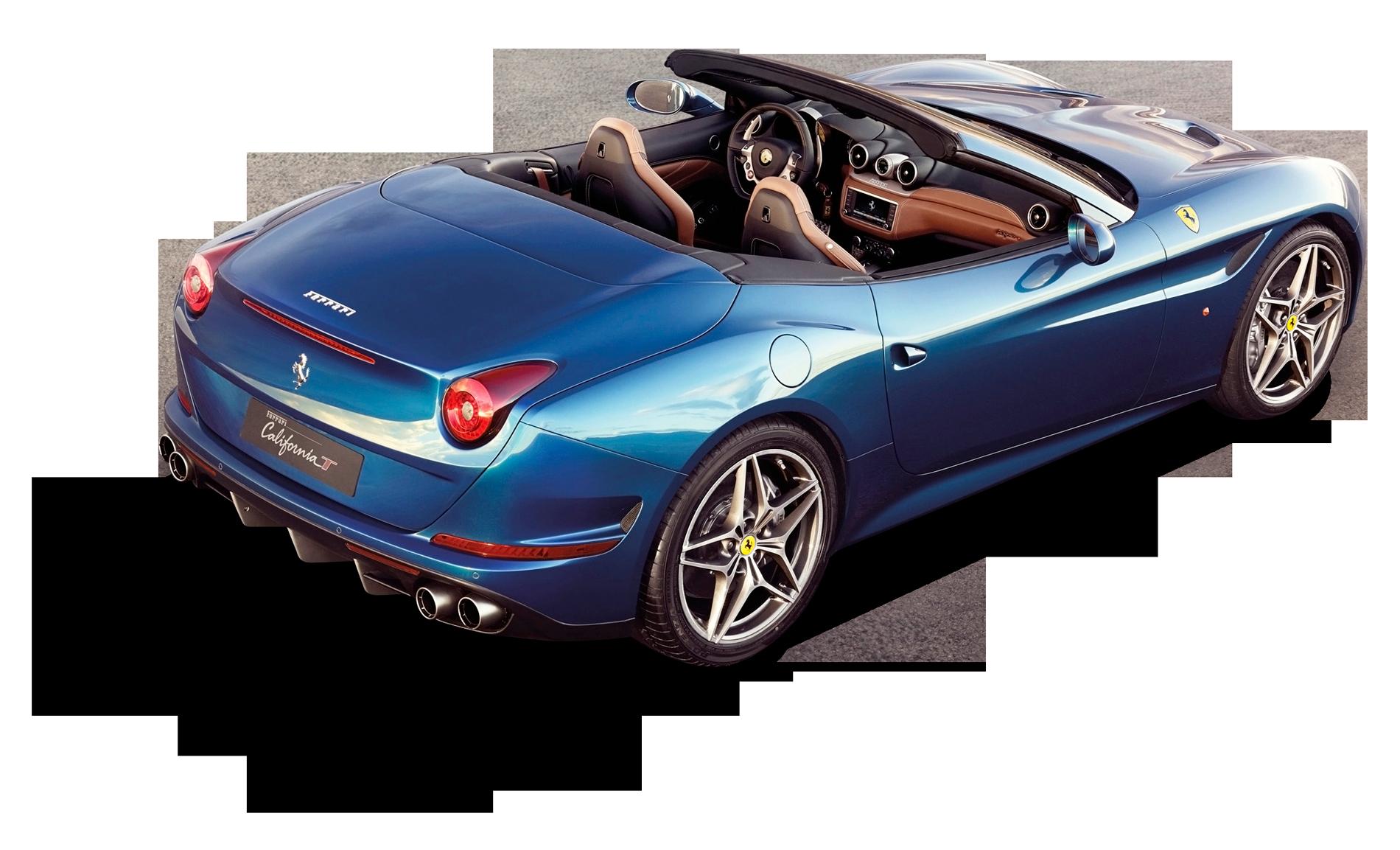 Transparentes Back View Of Ferrari California T Car Png Bild