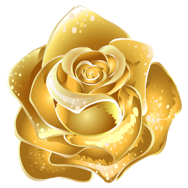 Beautiful Gold Rose Decor
