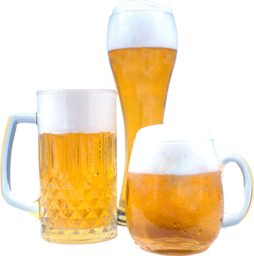 Beermugs multiple sizes PNG Image