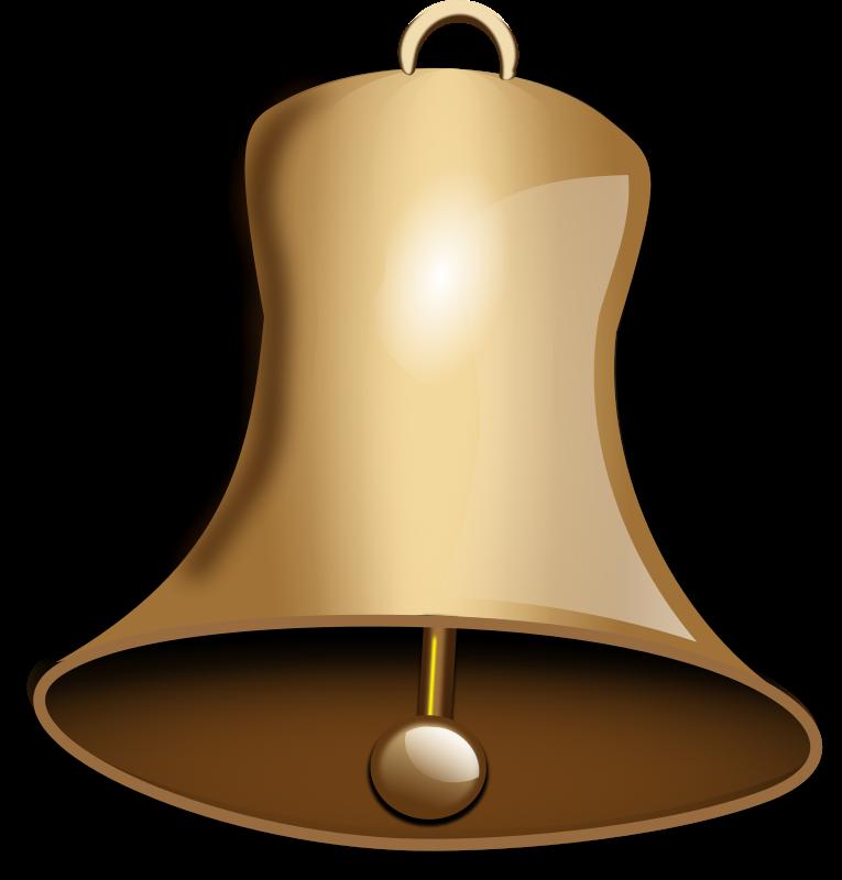 Golden Bell PNG Image
