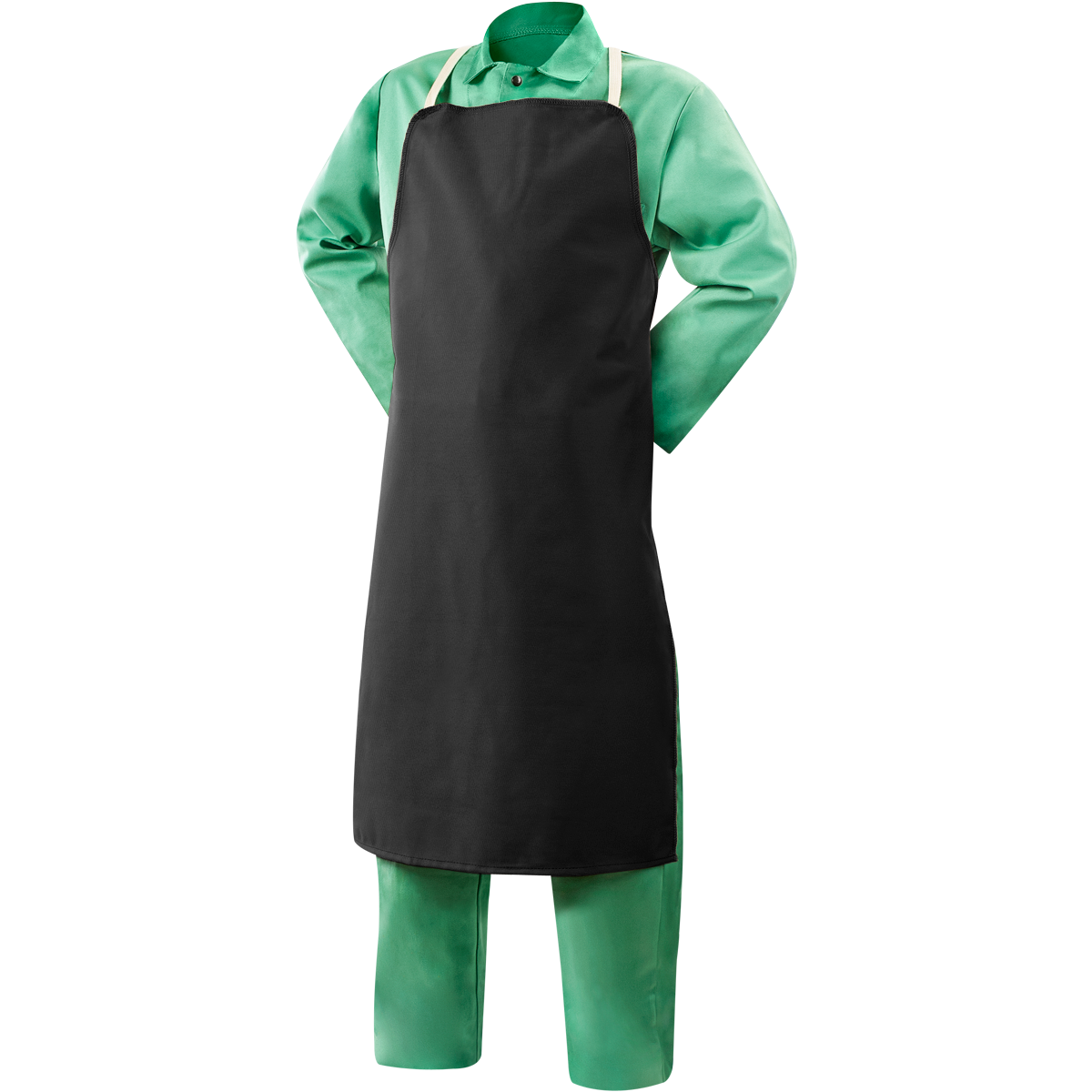 Bib Apron With Shoulder And Waist Straps PNG Image
