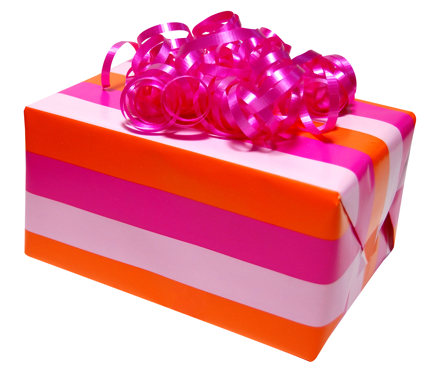 Pink Present Box PNG Image