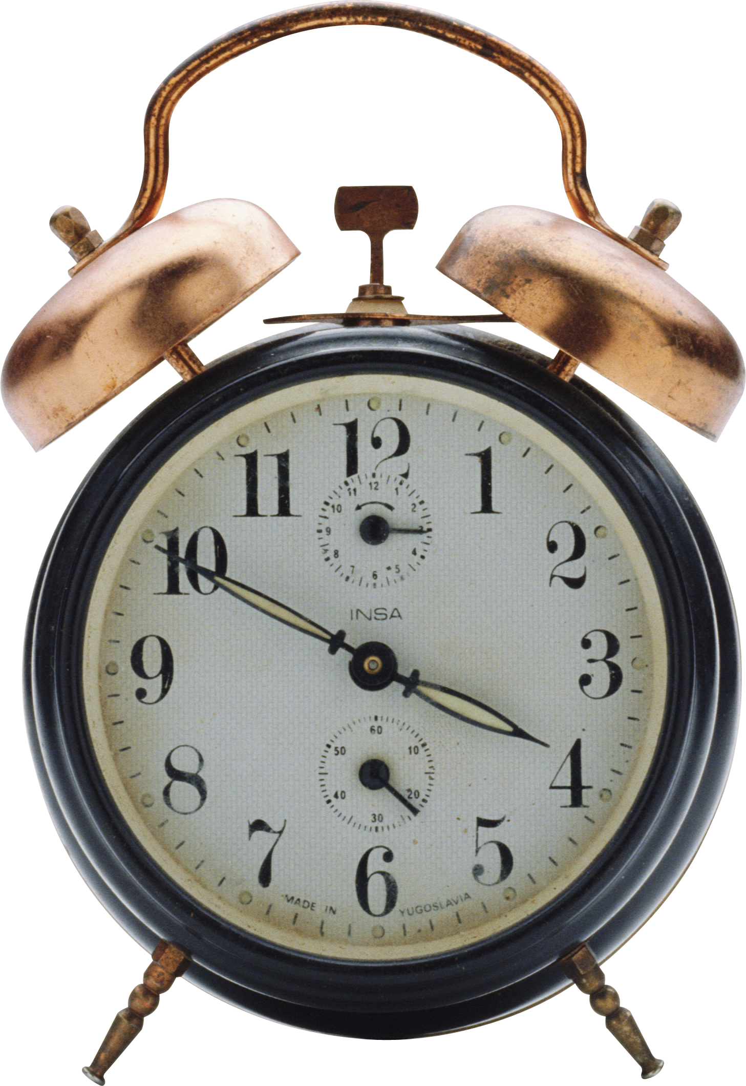 Black Alarm Clock PNG Image