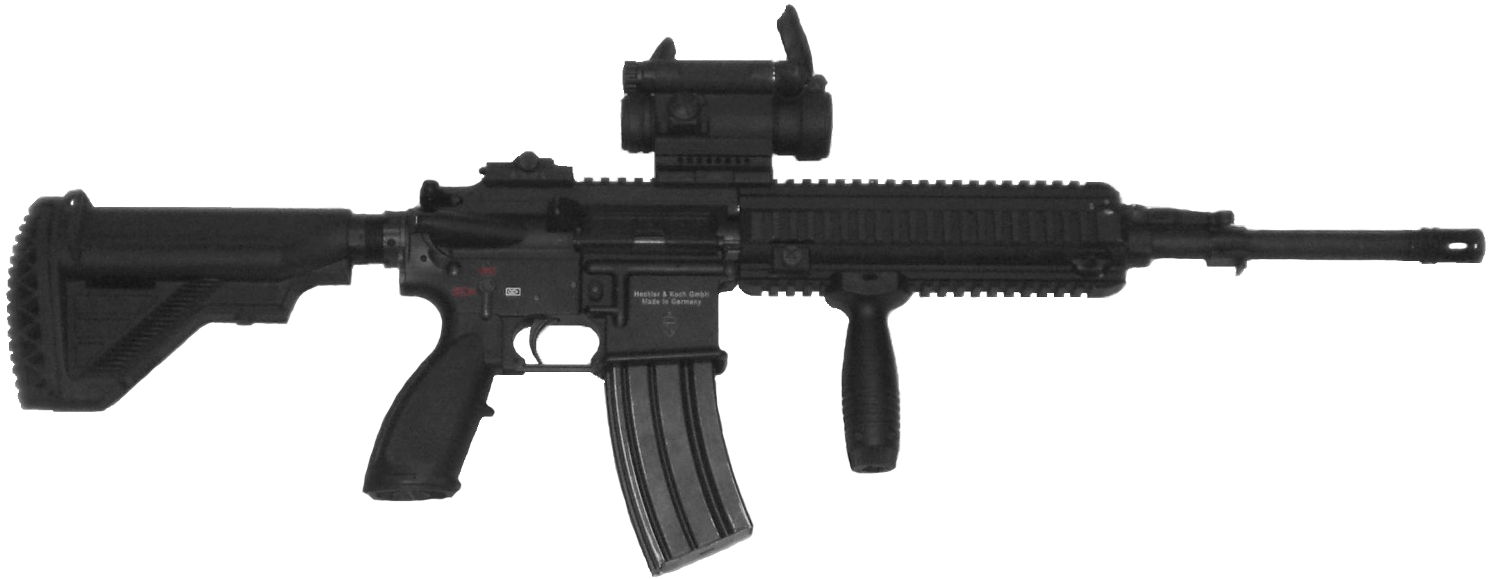 Black Assault Rifle PNG Image