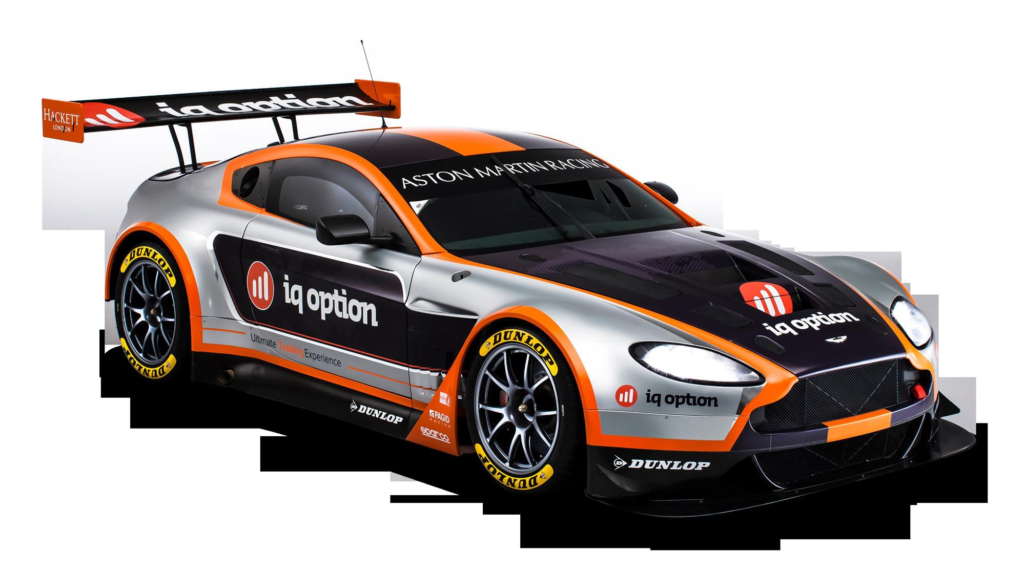 Black Aston Martin Racing Car PNG Image