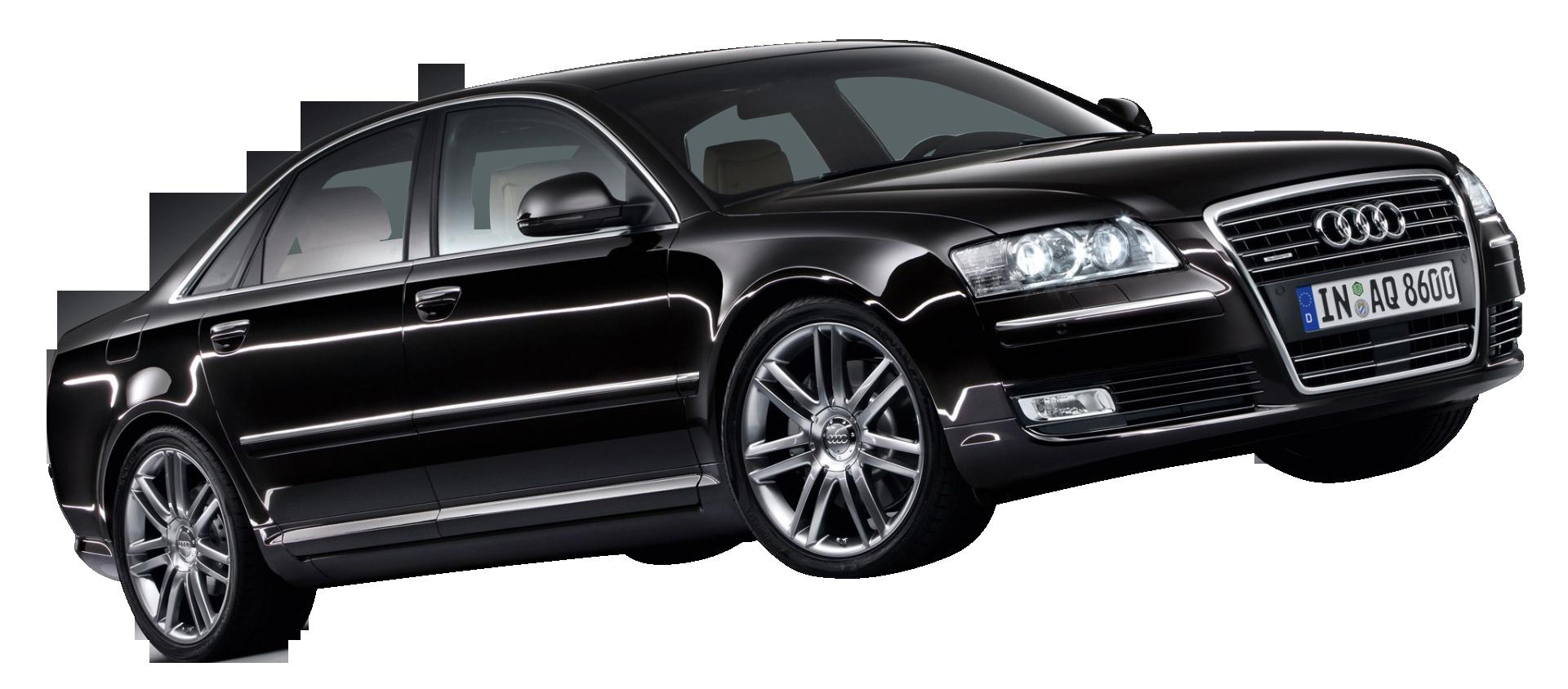 Black Audi A8 Car PNG Image