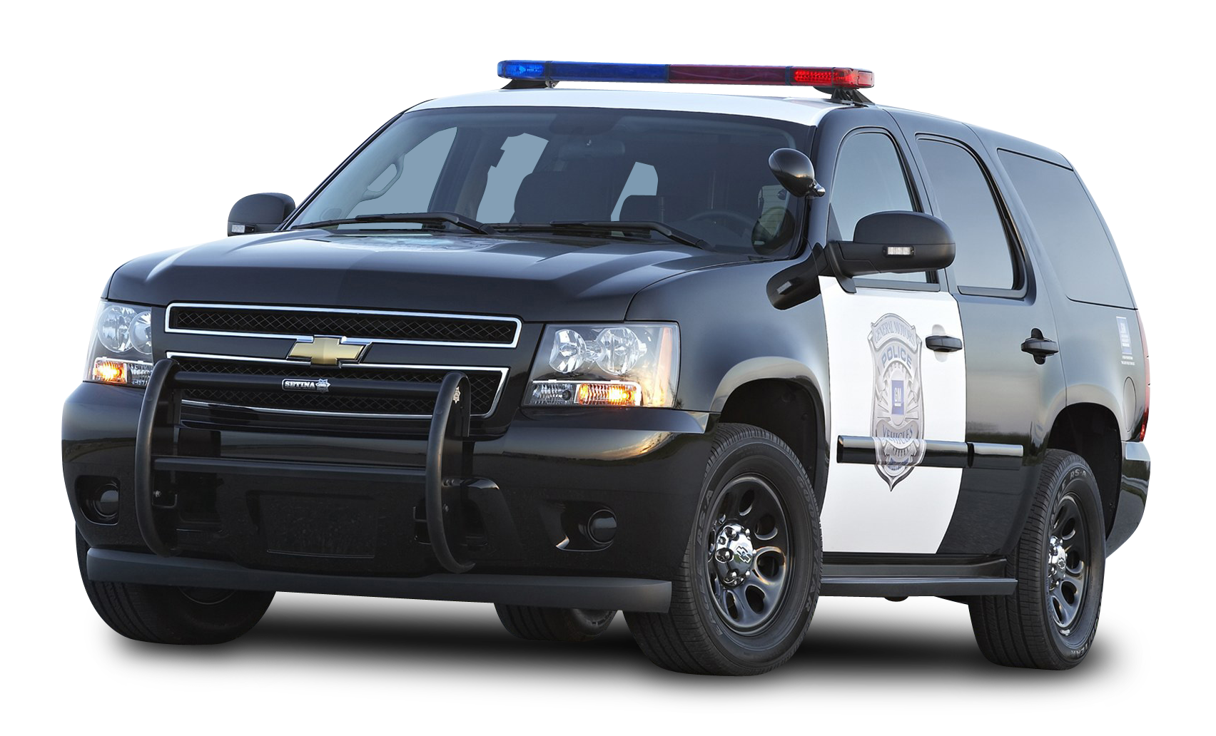 Black Chevy Tahoe Police SUV PPV Car PNG Image