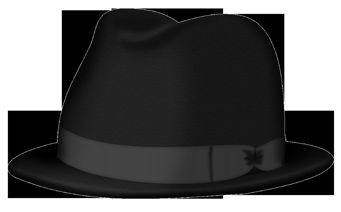 Black Fedora hat PNG Image