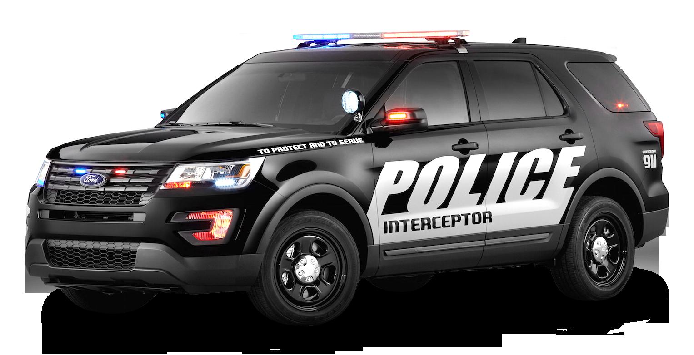 Black Ford Police Interceptor Car PNG Image