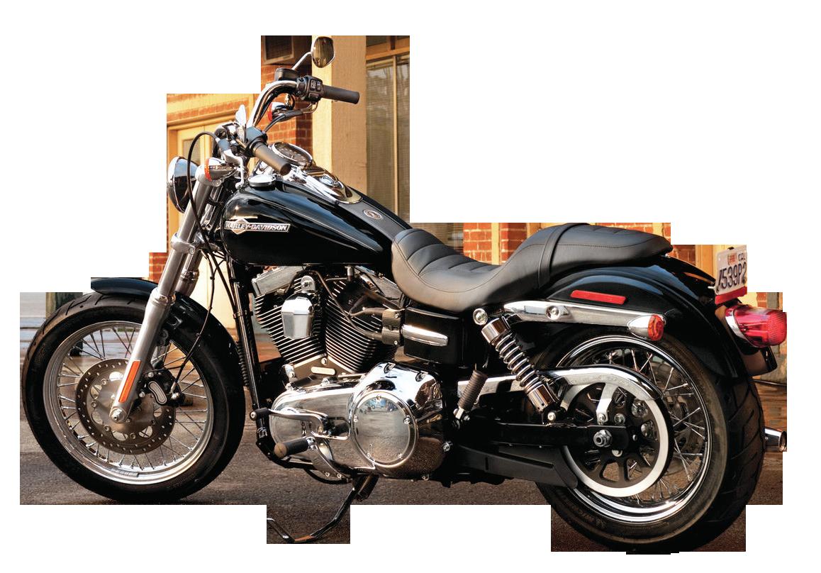 Black Harley Davidson PNG Image