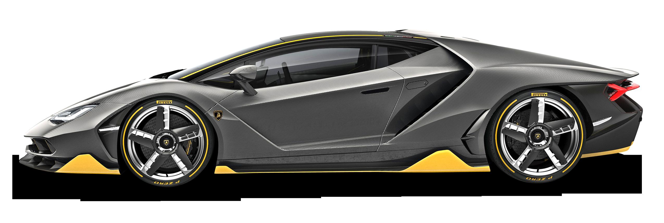 Black Lamborghini Centenario LP 770 4 Car PNG Image