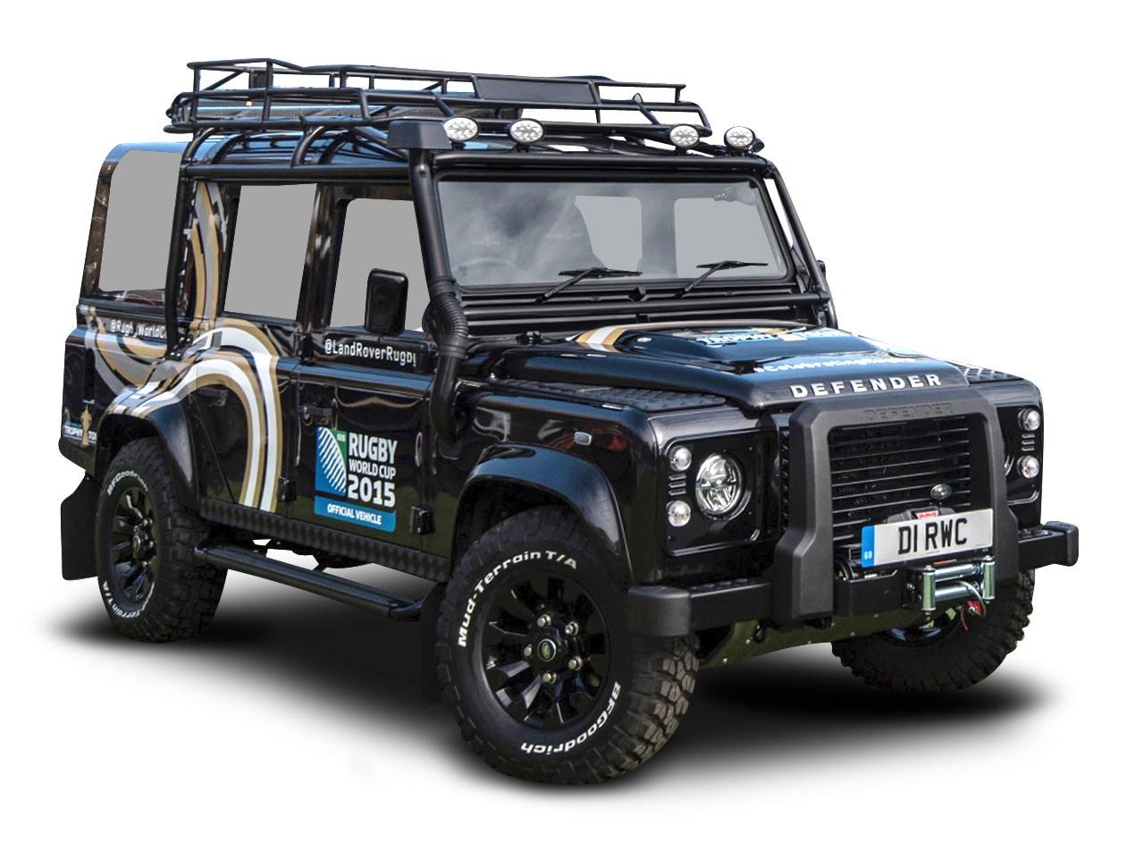 Black Land Rover Defender Car