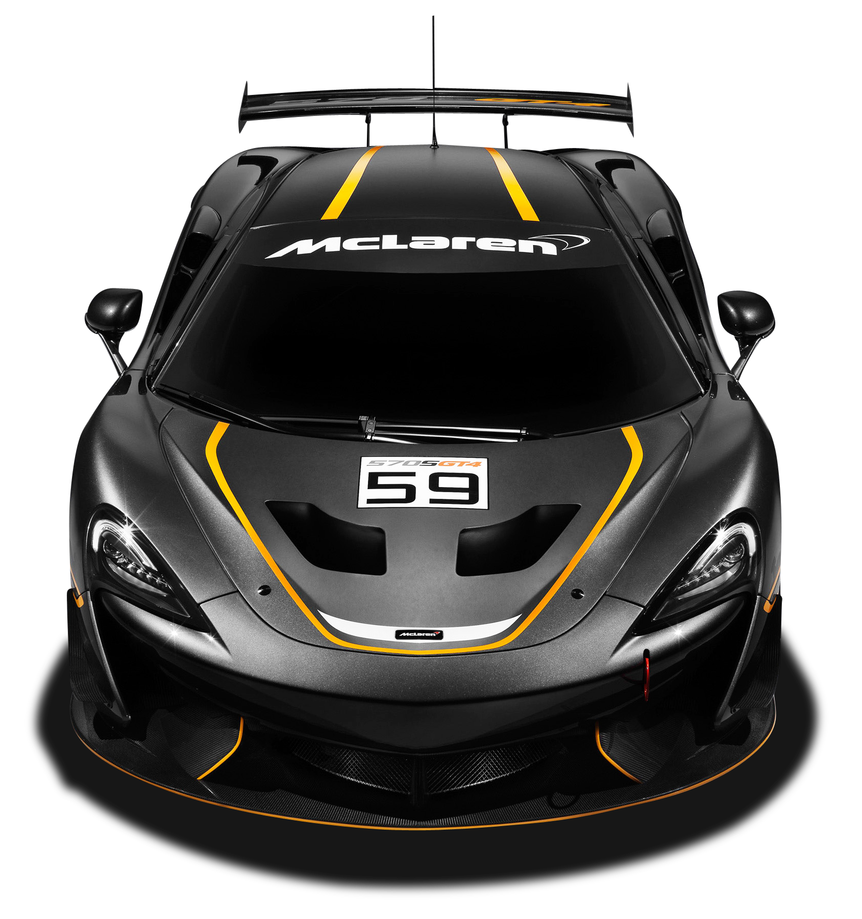 Black Mclaren 570s GT4 Race Car