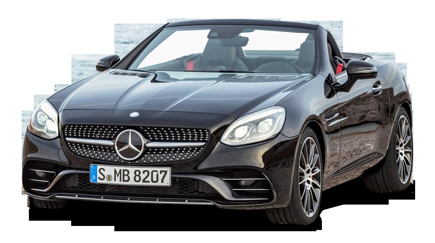 Black Mercedes AMG SLC 43 Car