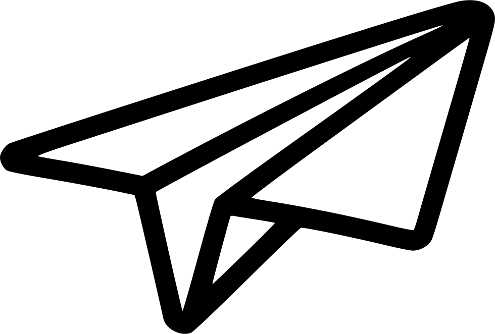 Black Shape Paper Plane