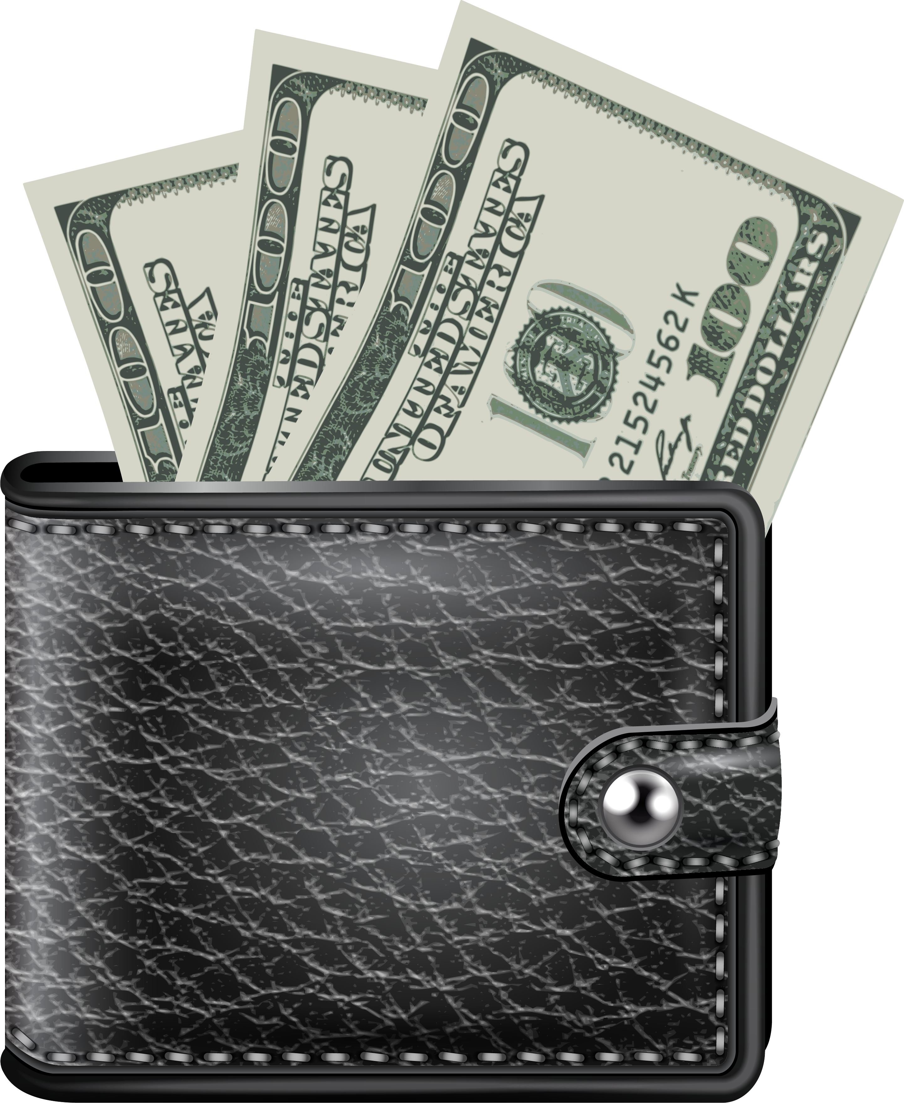 black wallet with money png image purepng free transparent cc0