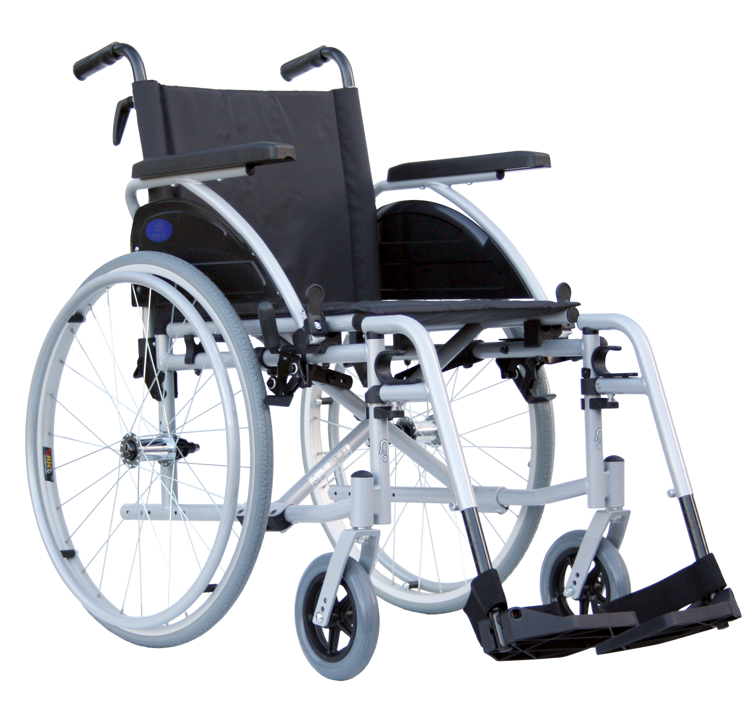 Black Wheelchair PNG Image