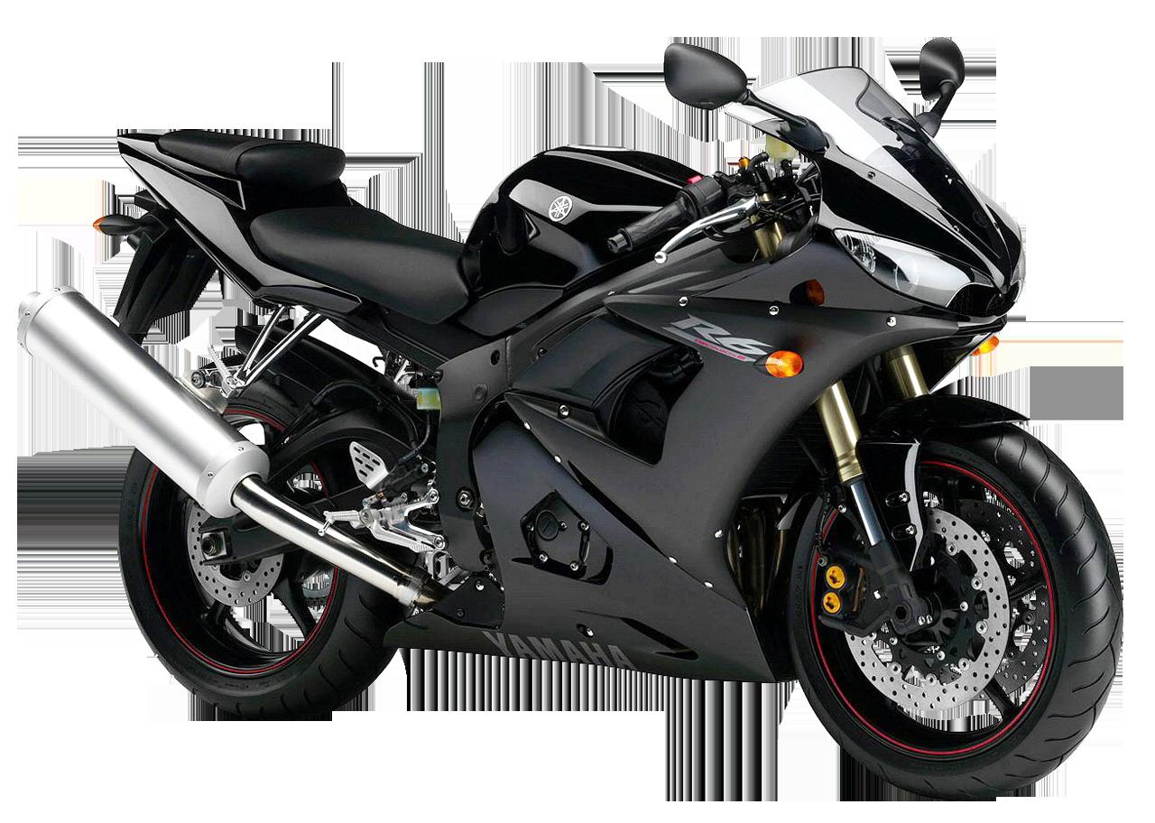 Black Yamaha YZF R6 PNG Image