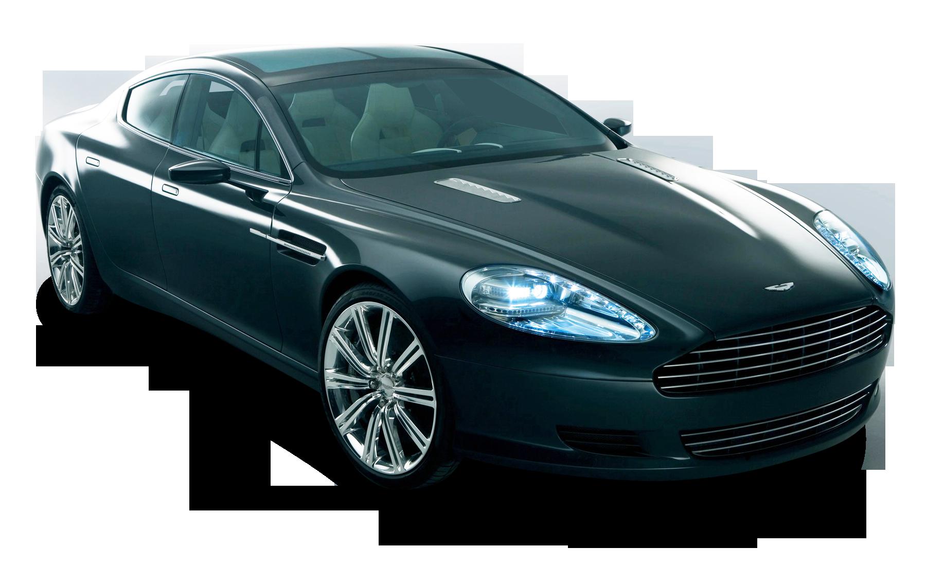 Blue Aston Martin Rapide Car PNG Image
