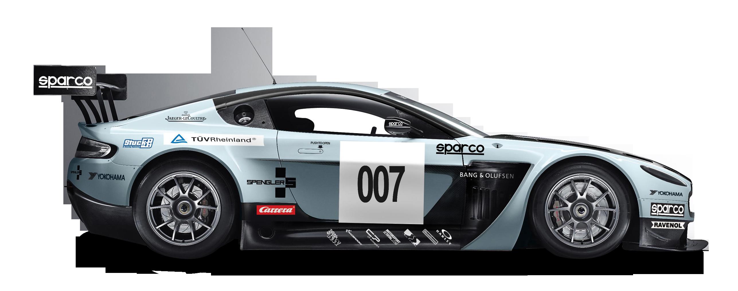 Blue Aston Martin Vantage GT3 Car PNG Image