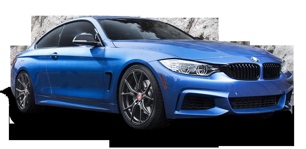 Blue BMW 4 Series Car