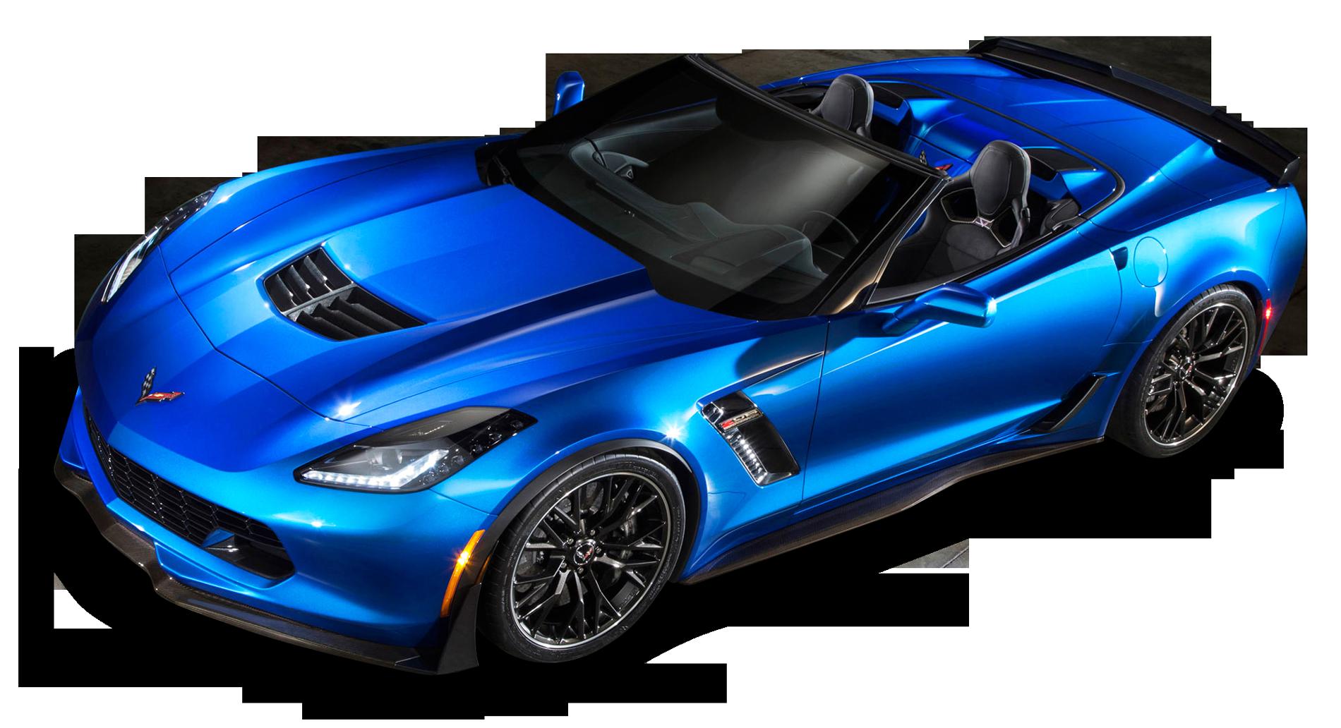 Blue Chevrolet Corvette Z06 Top View Car PNG Image