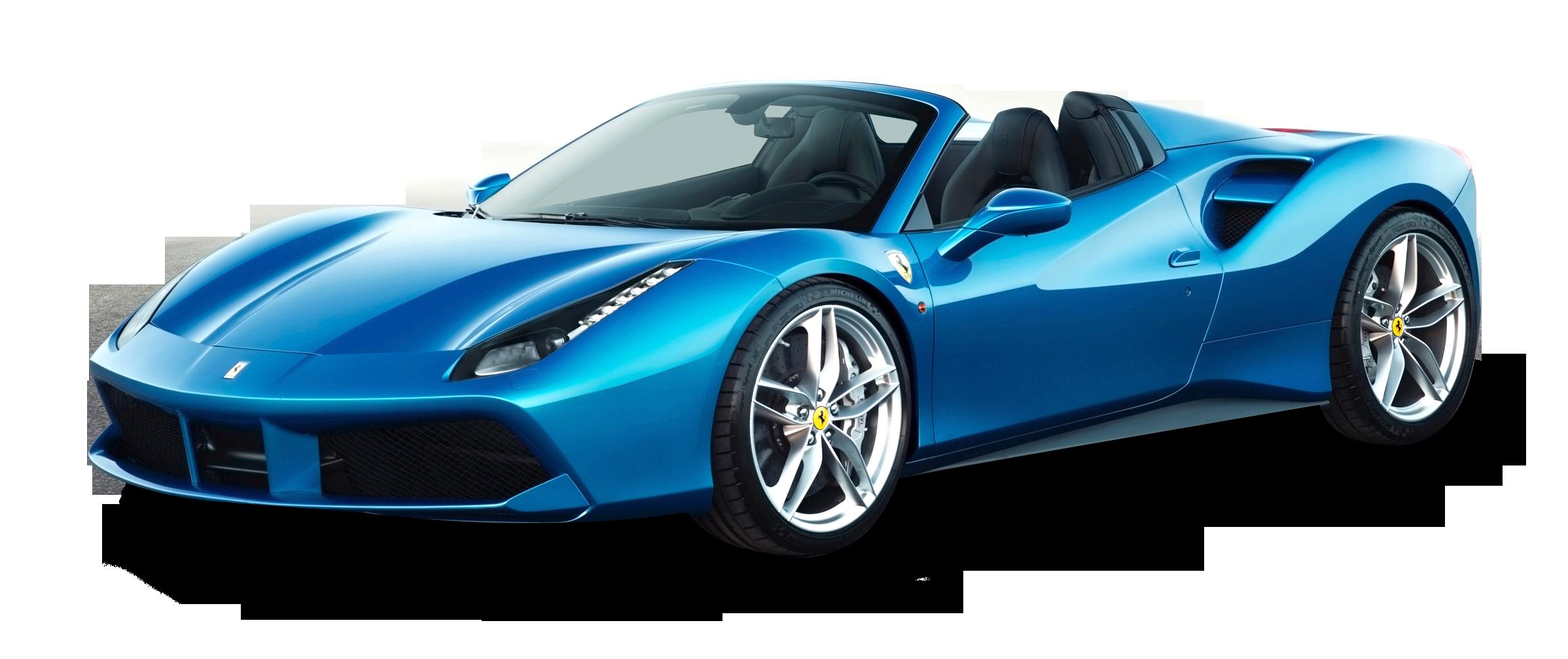 Blue Ferrari 488 Spider Car