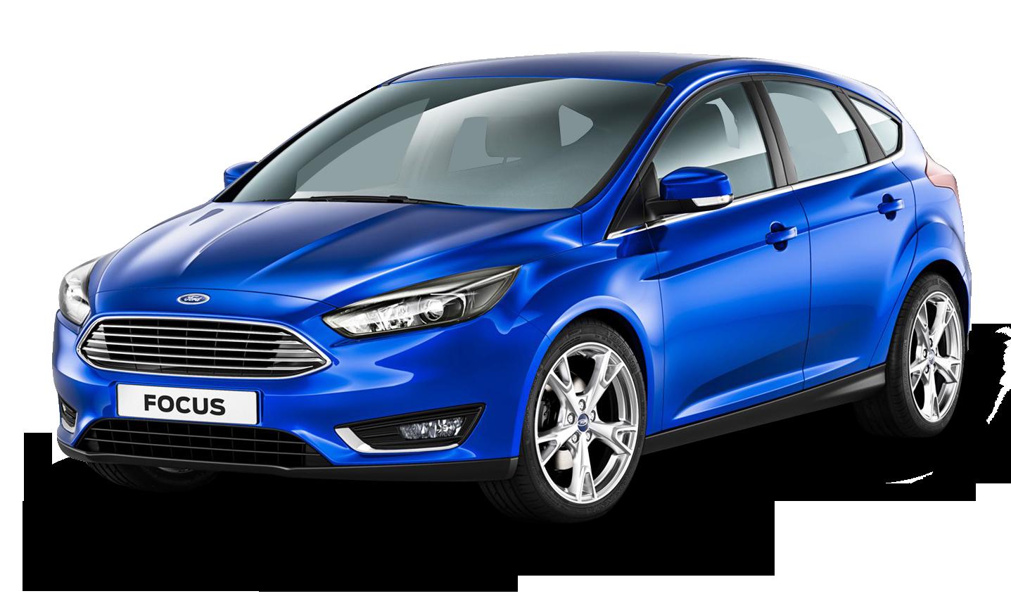 Blue Ford Focus Car