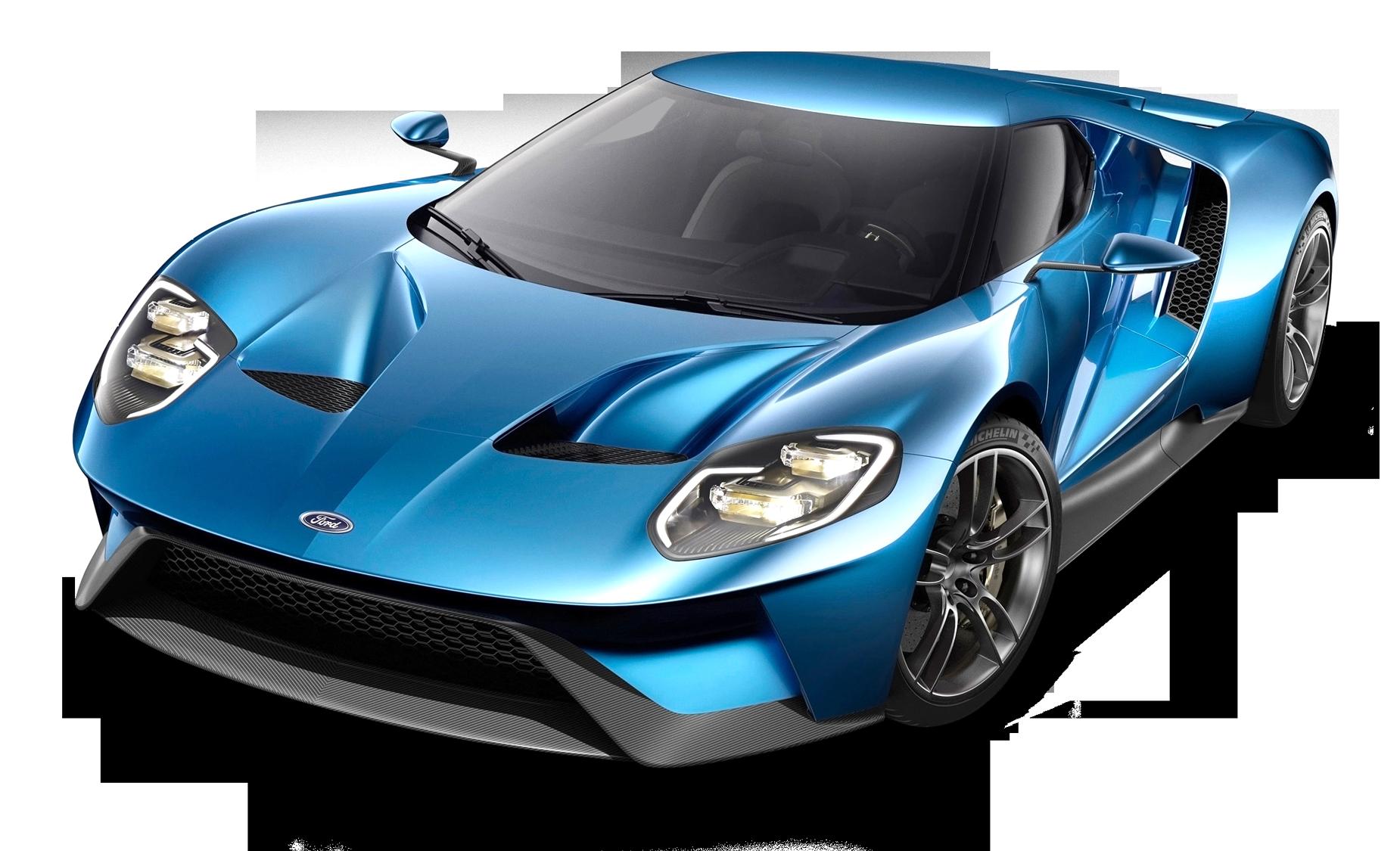 Blue Ford GT Car