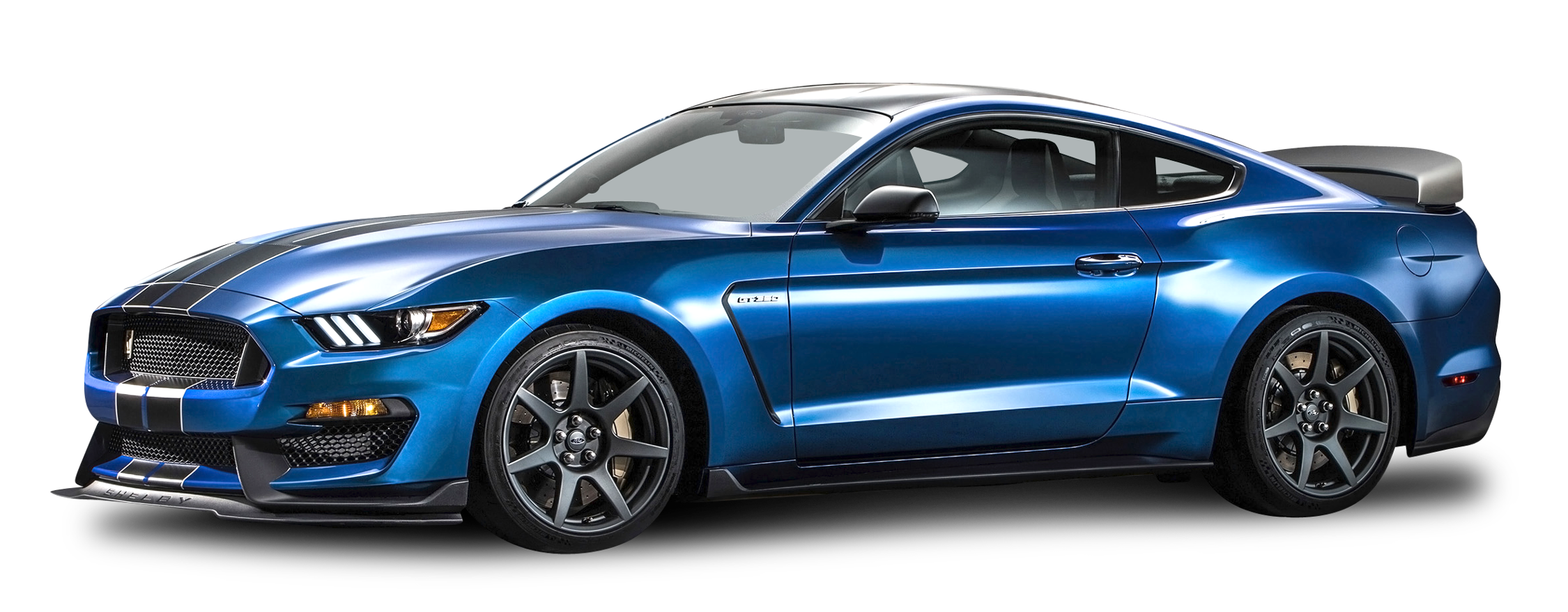 Blue Ford Shelby GT350R Mustang Car