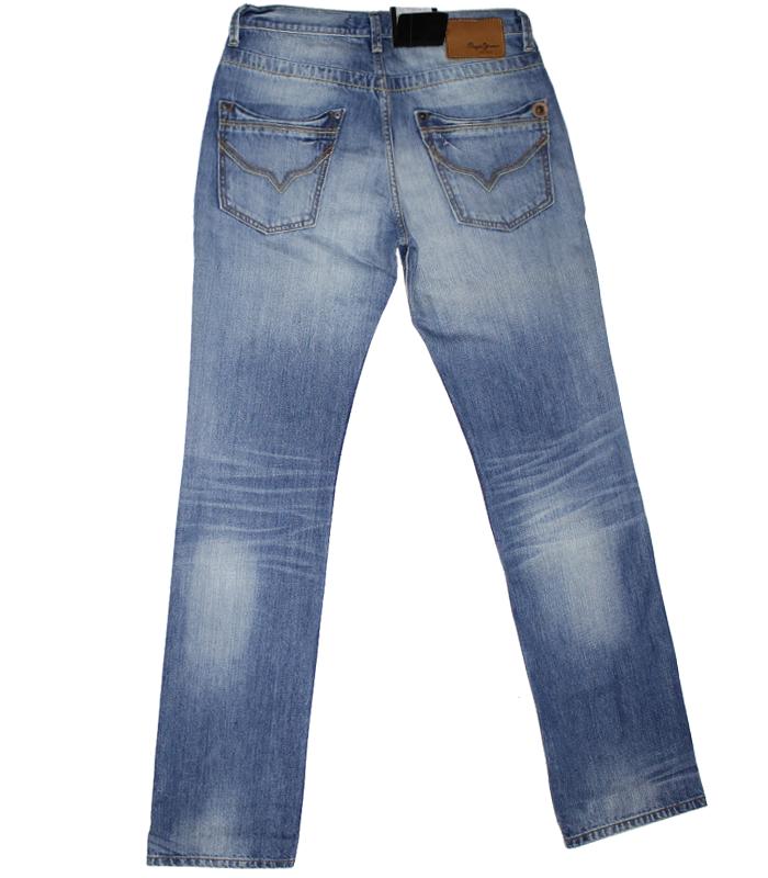 Blue  Half Wash Jeans PNG Image