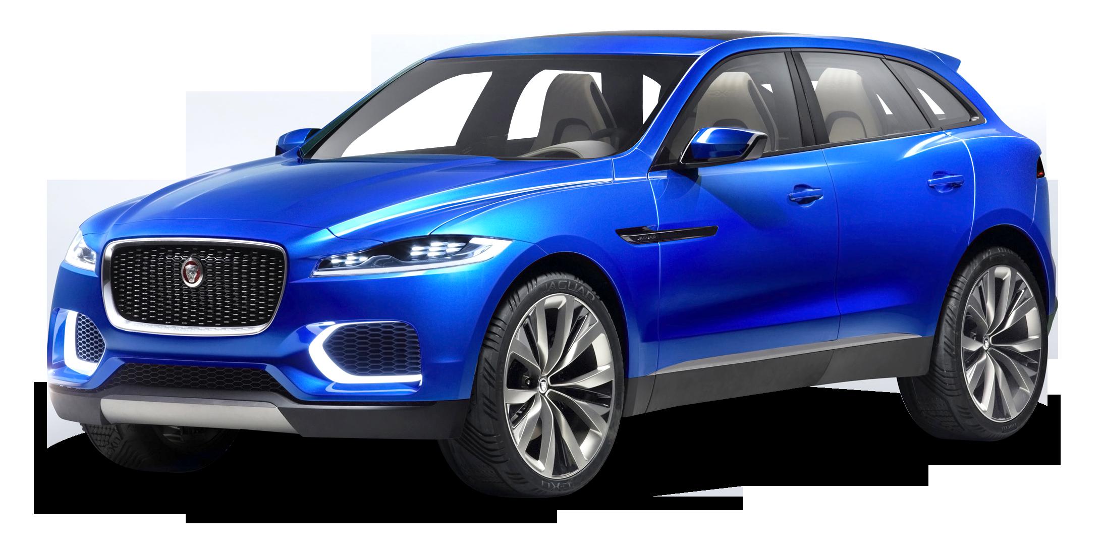 Blue Jaguar C X17 Sports Crossover Car
