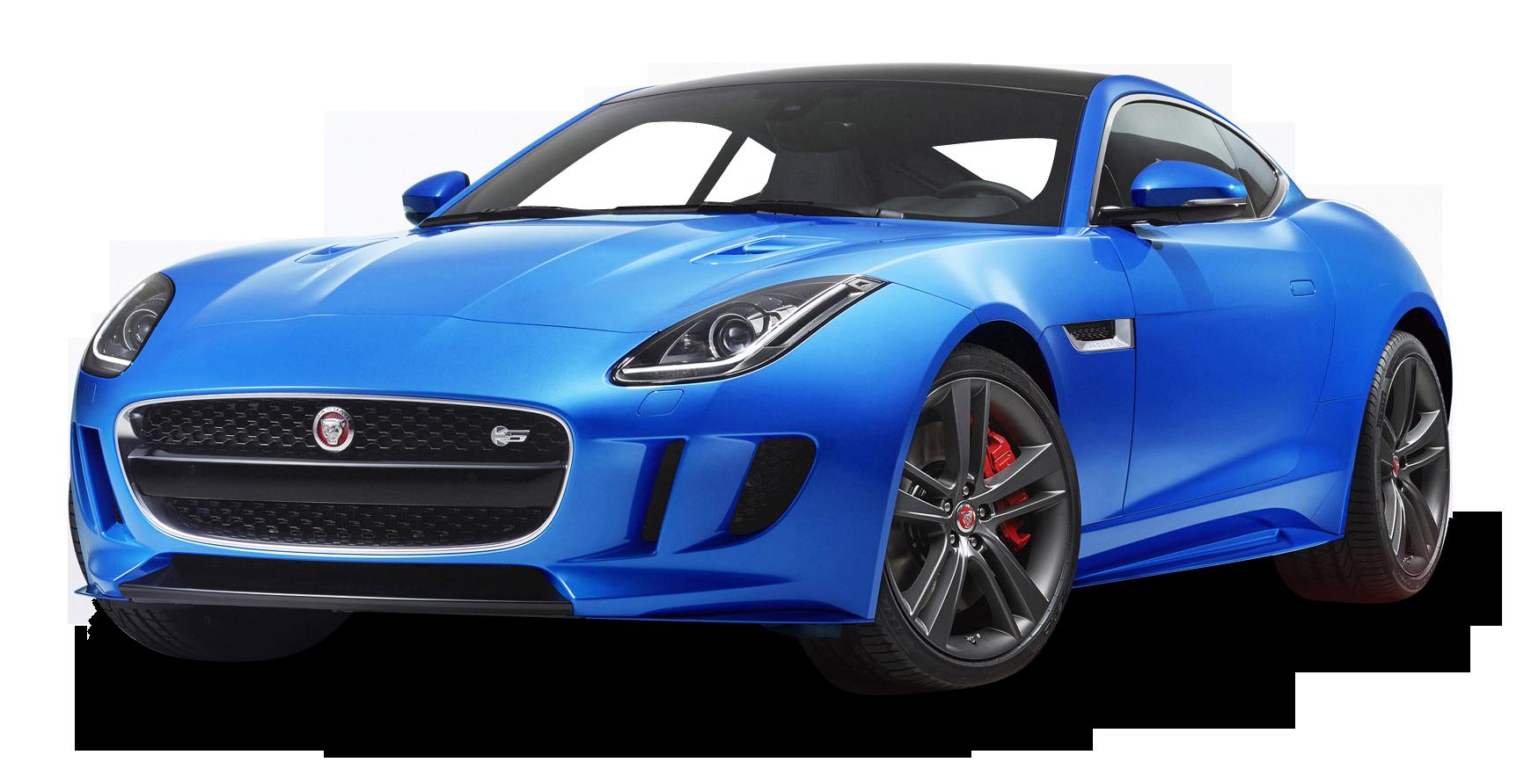 Blue Jaguar F TYPE Luxury Sports Car
