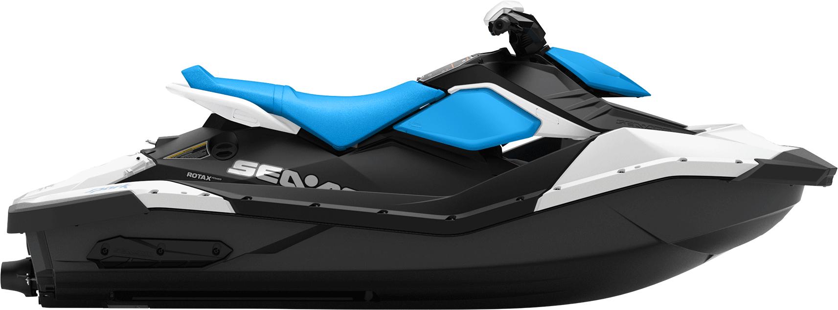 Blue Jet Ski PNG Image