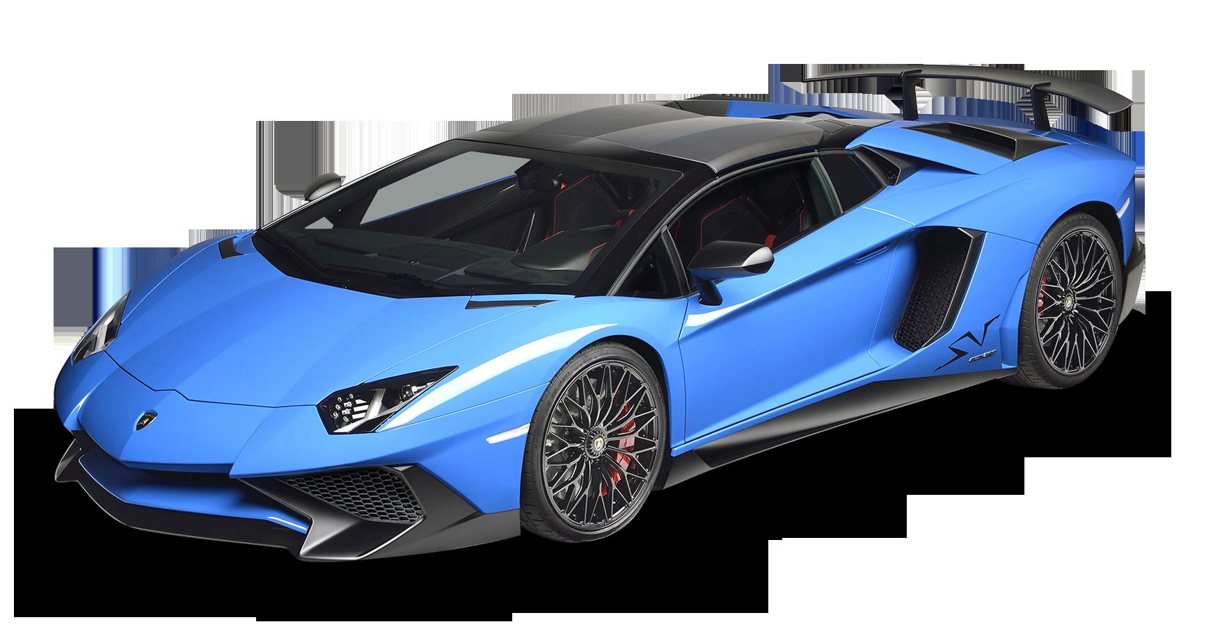 Blue Lamborghini Aventador Car PNG Image - PurePNG | Free ...