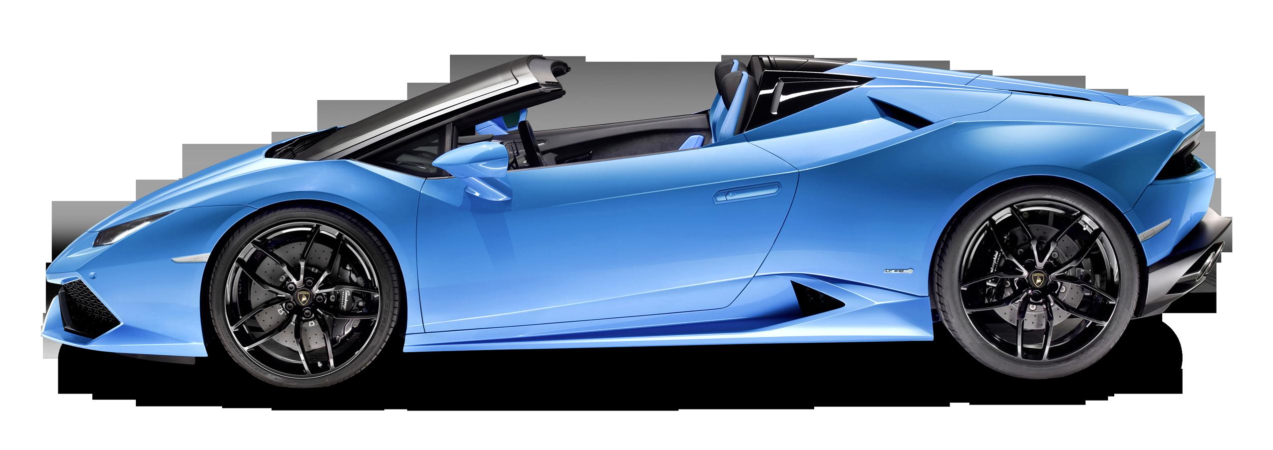 Blue Lamborghini Huracan LP 610 4 Spyder Car PNG Image