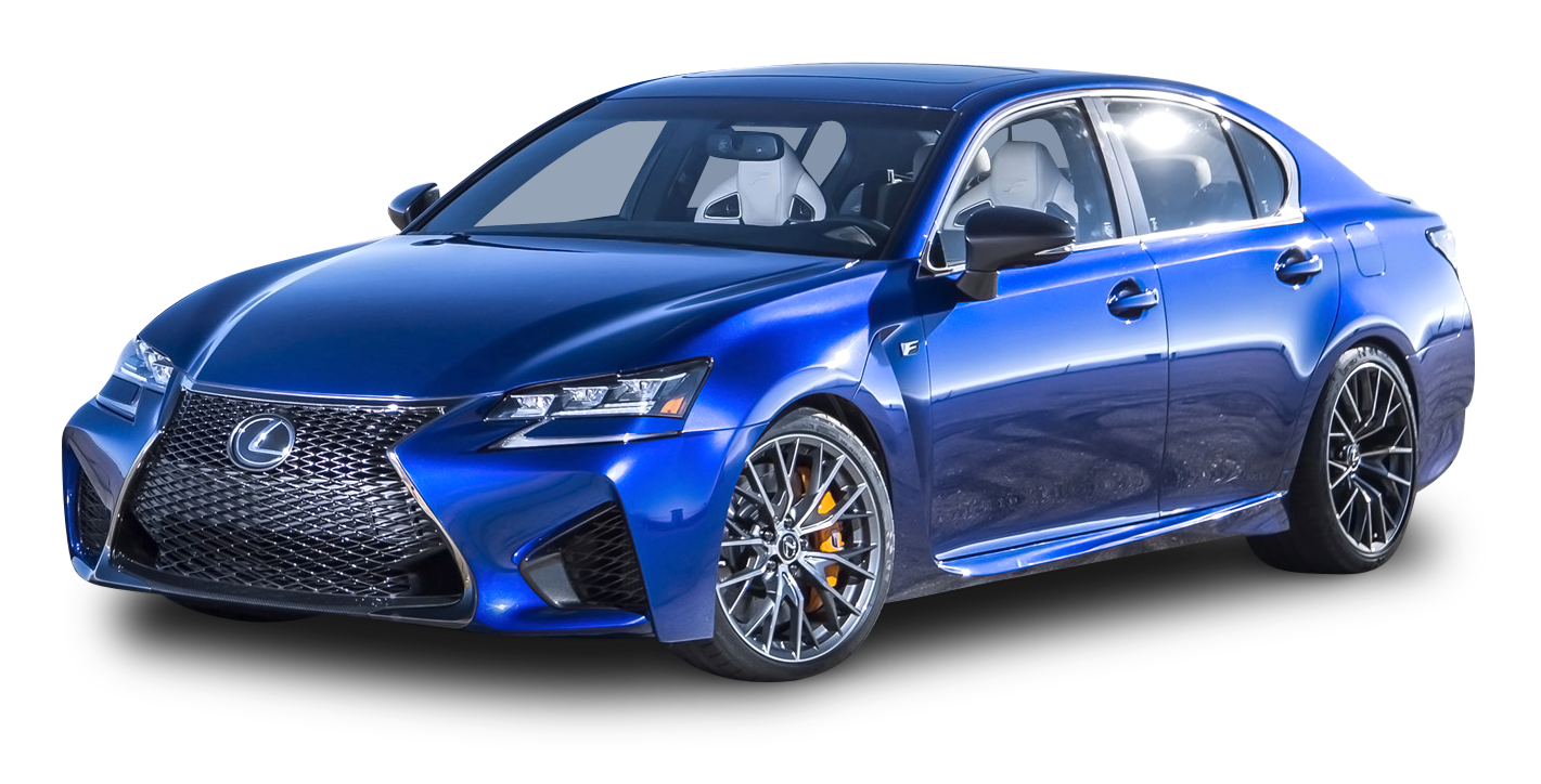 Blue Lexus GS F Car
