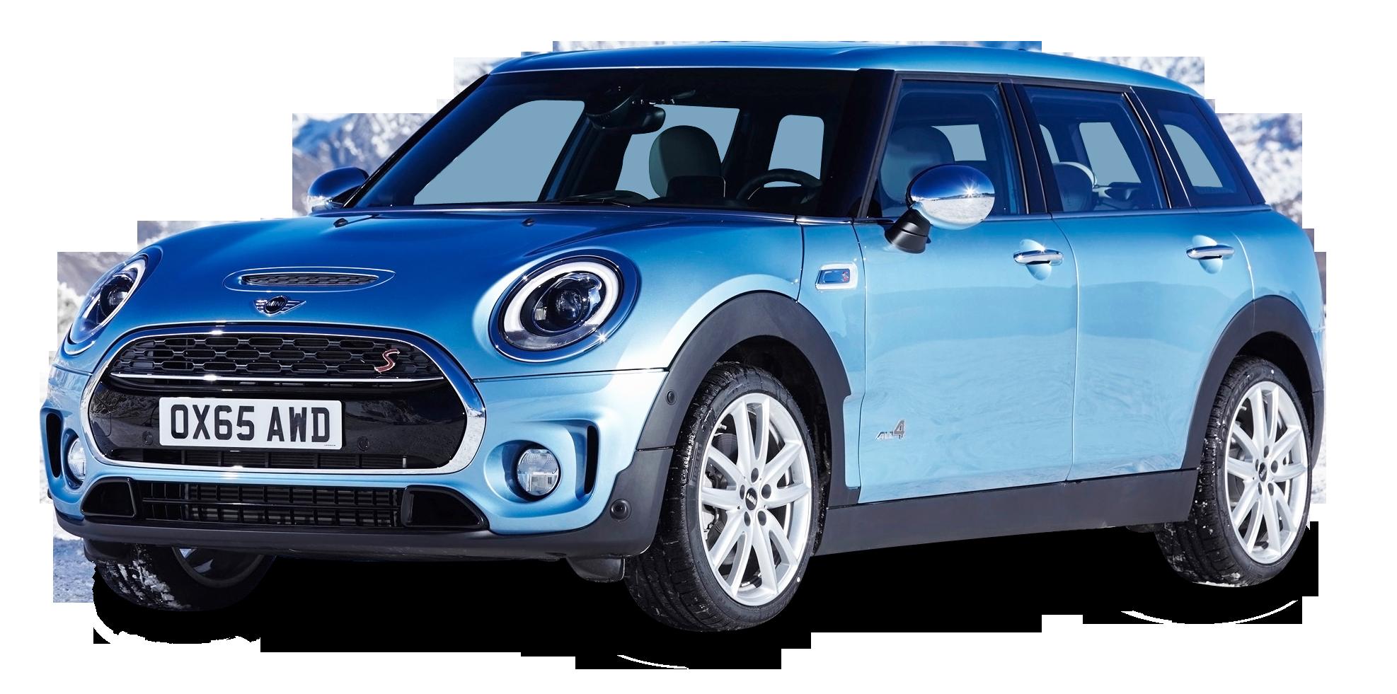 Blue Mini Clubman All4 AWD Car PNG Image PurePNG