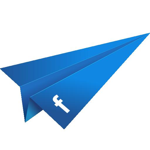 Blue Paper Plane PNG Image