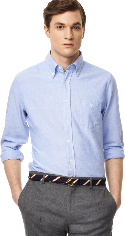 Blue Plain Full Sleeve Shirt PNG Image