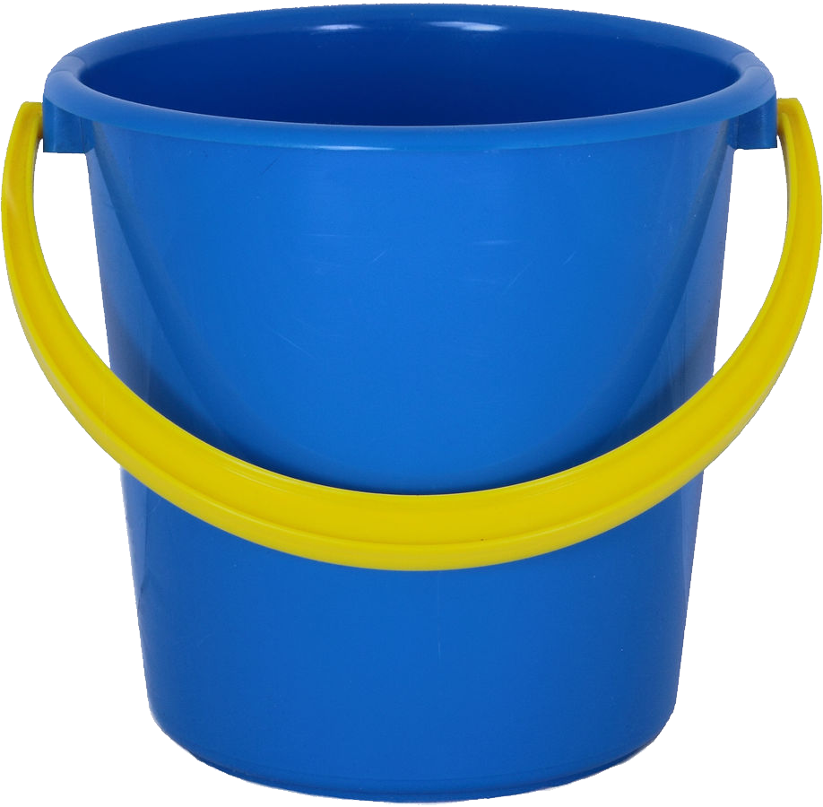 Blue PLastic Bucket PNG Image