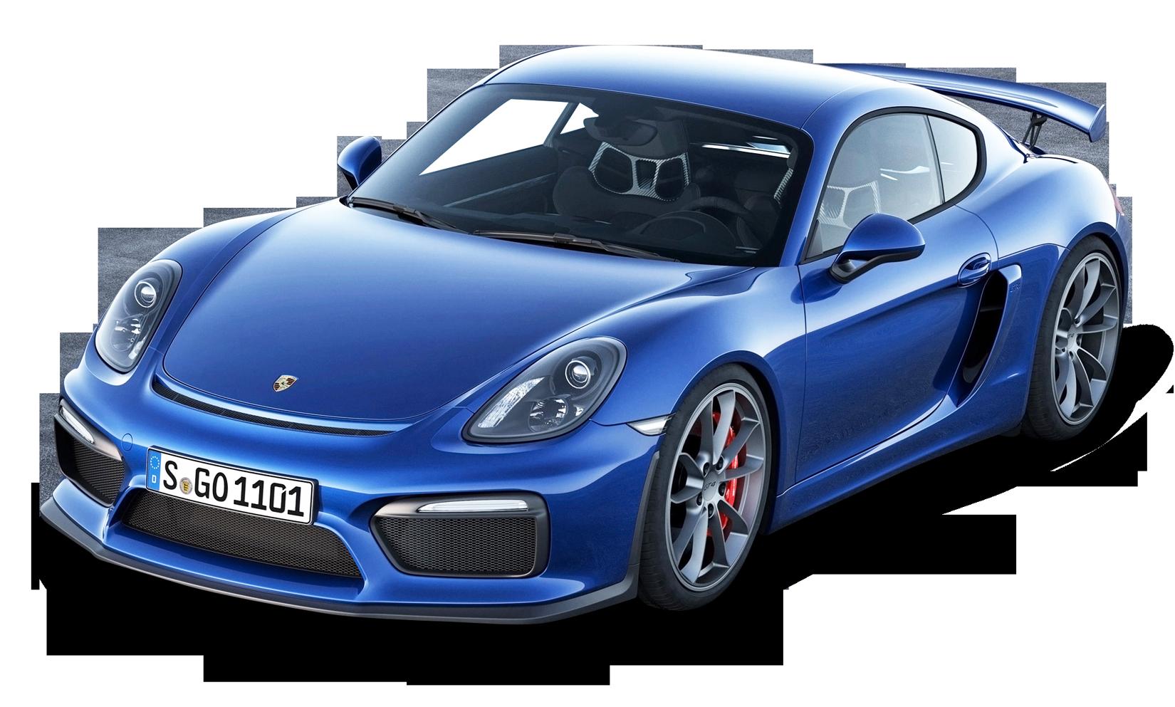 Blue Porsche Cayman GT4 Car PNG Image