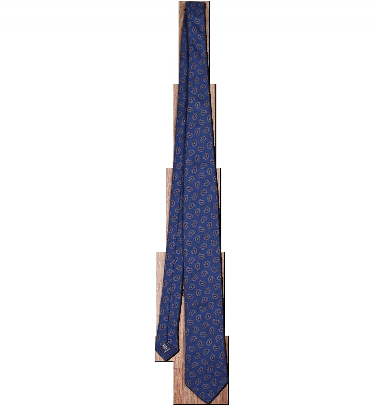 Blue Print Tie PNG Image