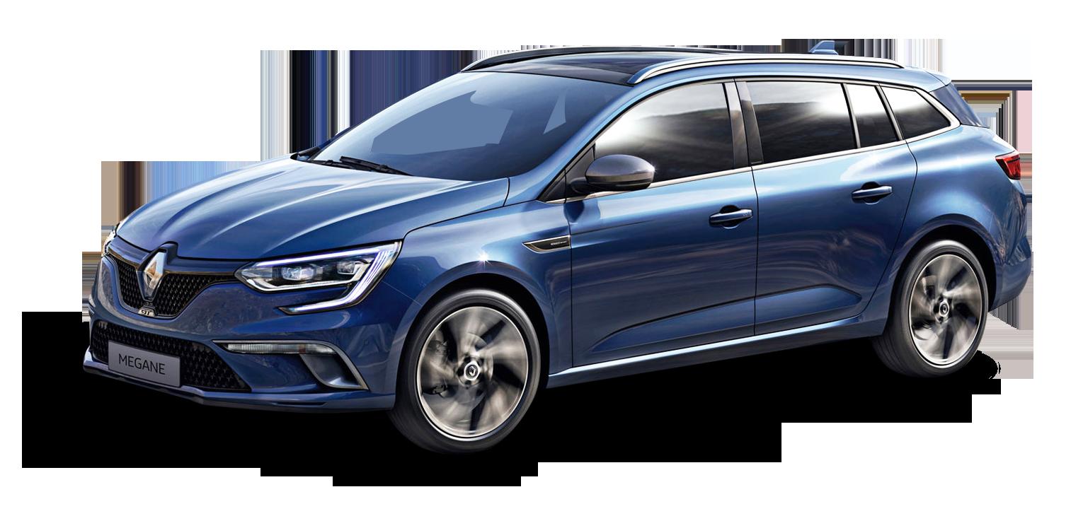 Blue Renault Megane Sport Tourer Car