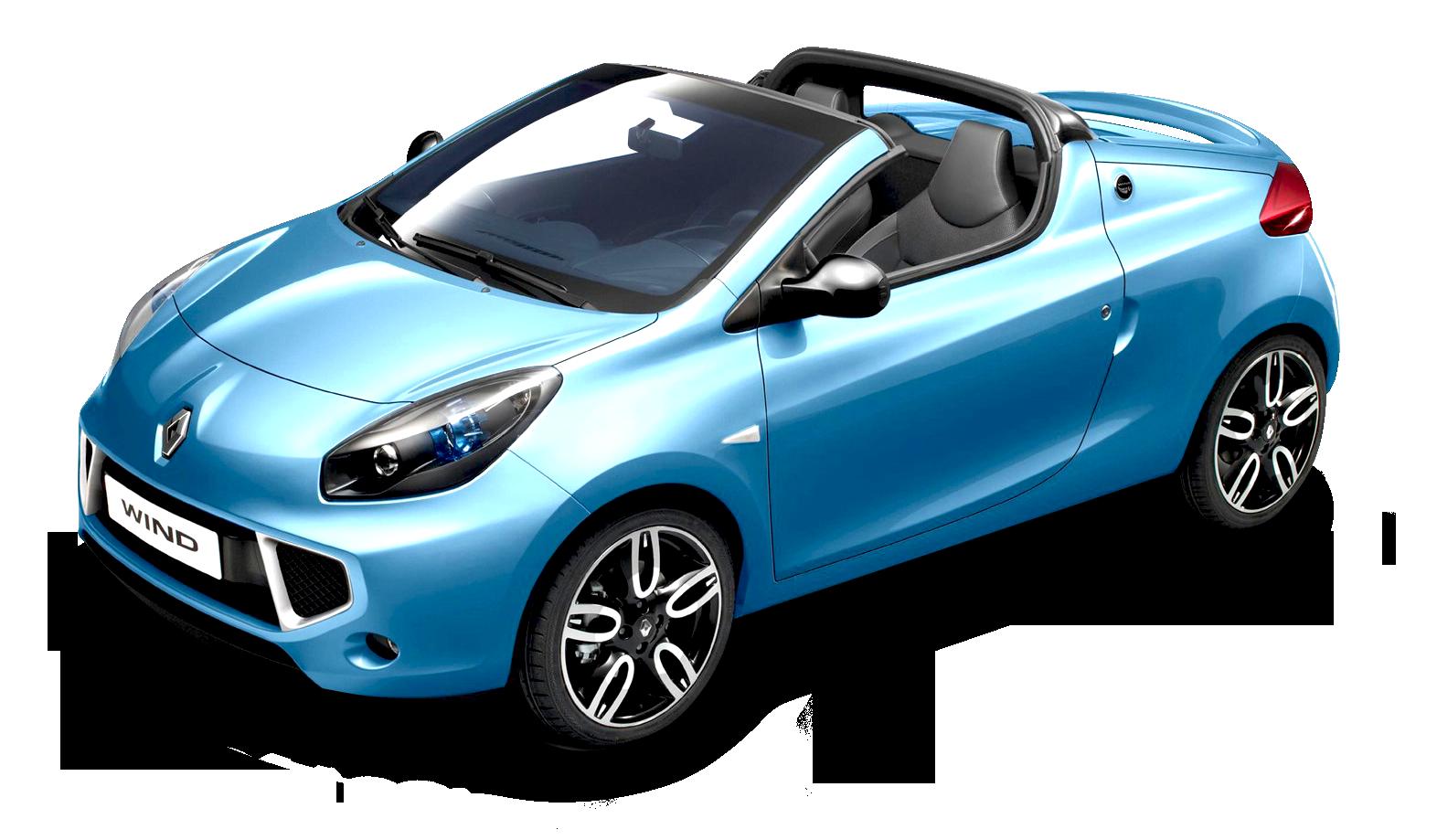 Blue Renault Wind Car PNG Image