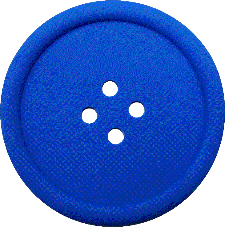 Blue Sewing Button With 4 Hole PNG Image
