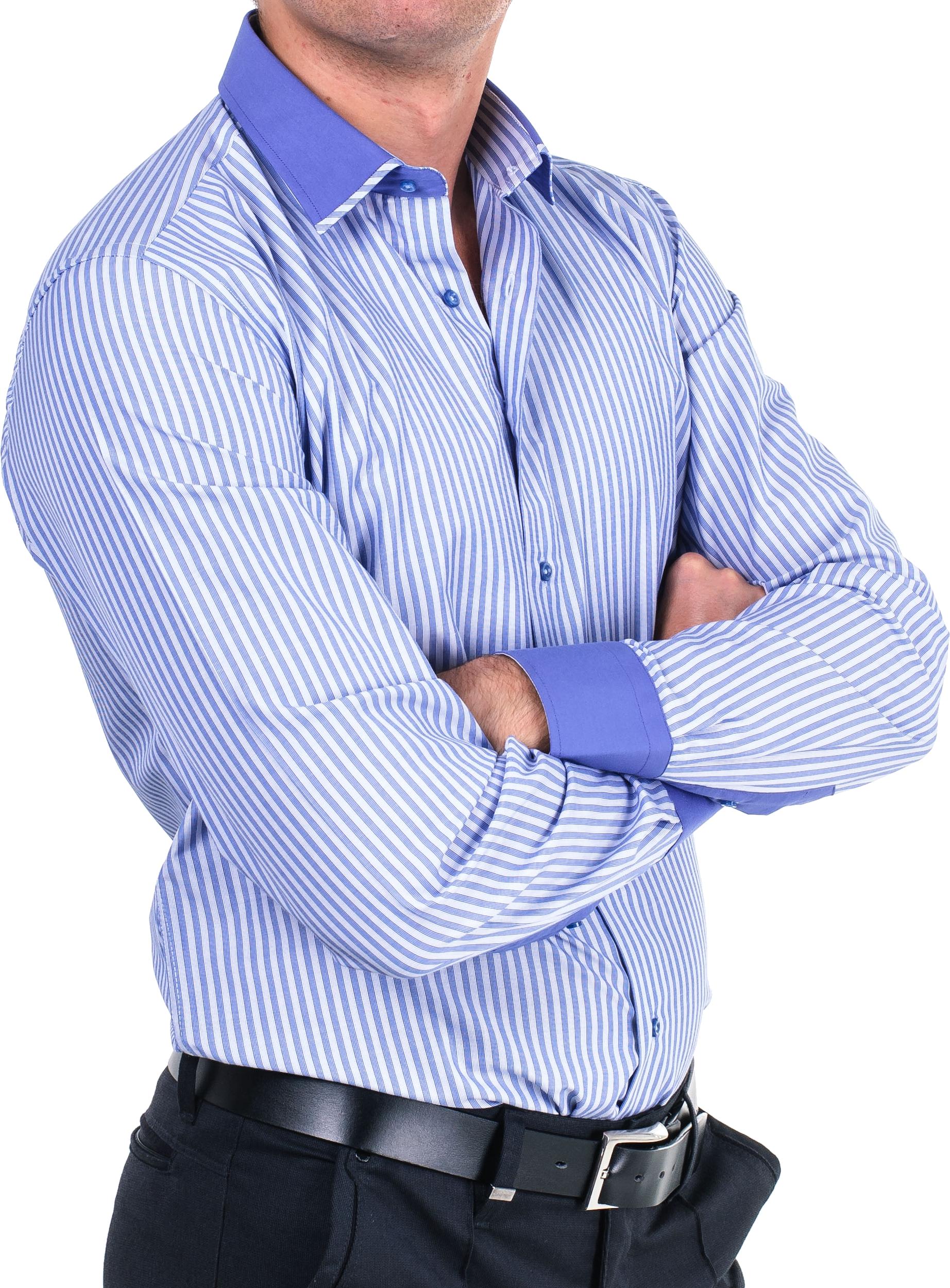 Blue Strip Full Fit Shirt PNG Image