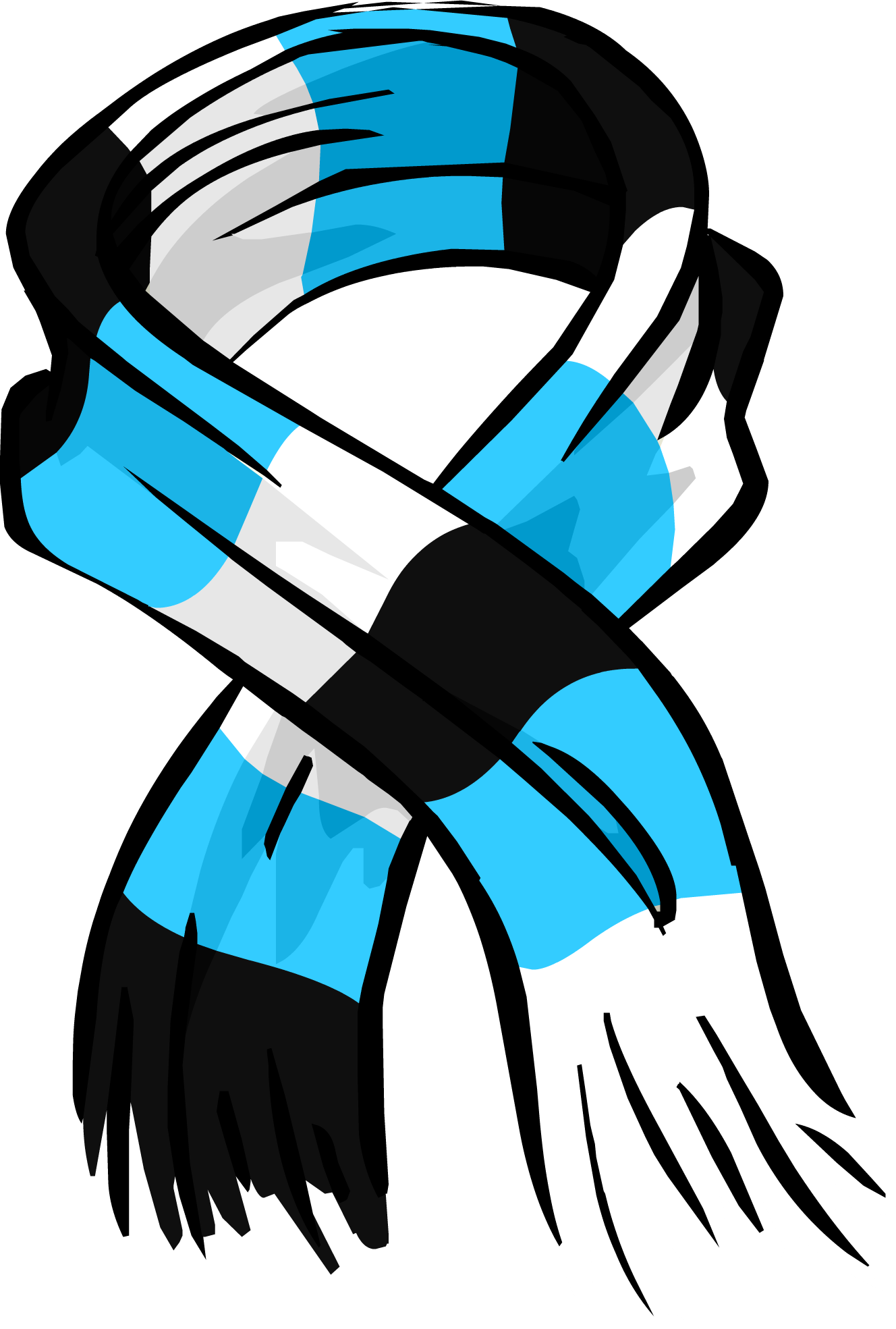 Blue Striped Scarf PNG Image