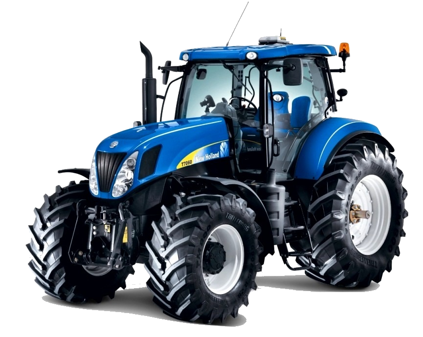 Blue Tractor PNG Image
