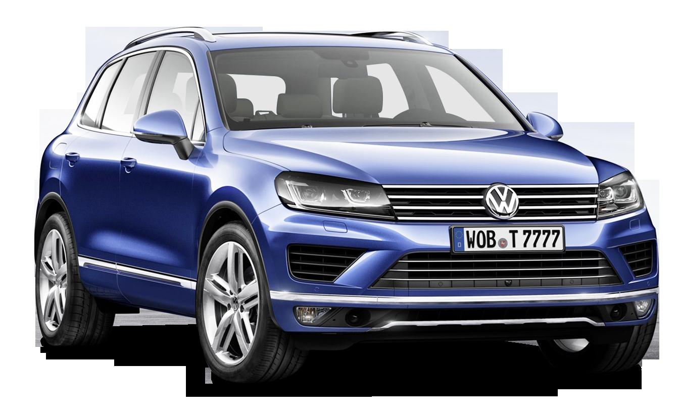 Blue Volkswagen Touareg Car